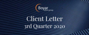 Client Letter 3rd Quarter 2020